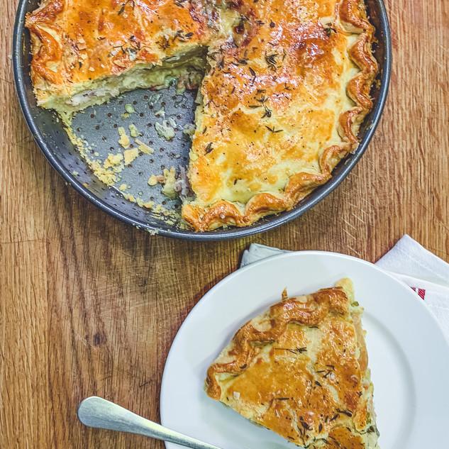 Chicken, Cider and Celariac Pie