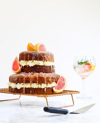 Gin, Tonic and Pink Grapefruit Cake
