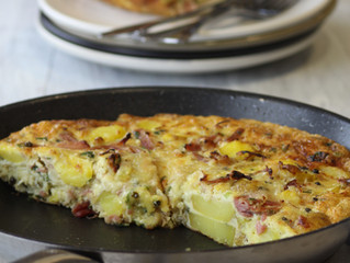 Ham Hock, Spring Onion and Potato Fritata