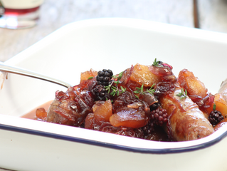 Apple and Blackberry Cumberland Sausages