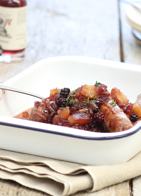 Apple and Blackberry Sausages