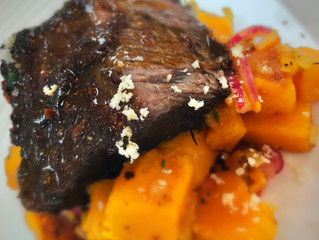 Slow Cooked Short Rib of Beef with Pumpkin