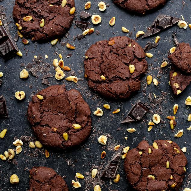 Chocolate, Sea Salt and Nut Cookies