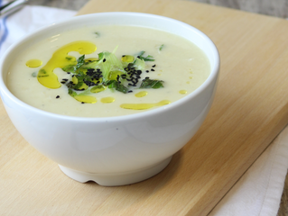 White Onion and Mint Soup