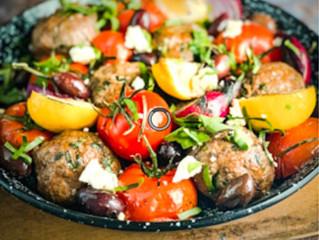 Super Summer Greek Lamb and Tomato Meatballs