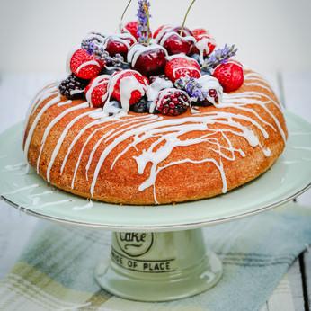 Summer Berries and Elderflower Cake