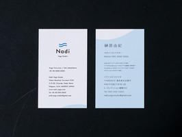 Nadi Yoga Studio name card design
