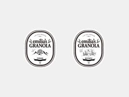 Emilia's GRANOLA logo design