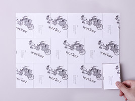 WORKER shop card design