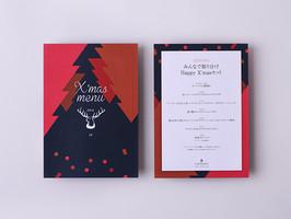 COTTONY X'mas menu card design