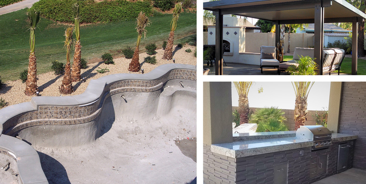 Phase 10:  Landscaping - Patio Cover - Outdoor Kitchen