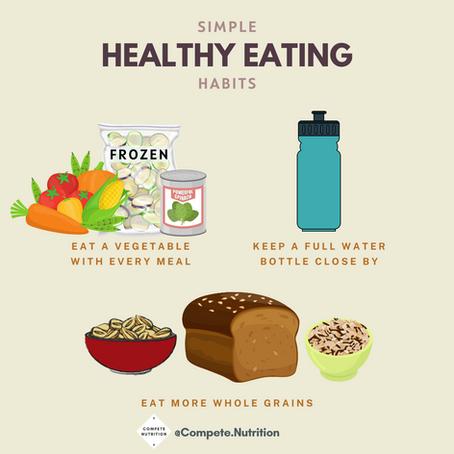 3 Simple Healthy Eating Habits