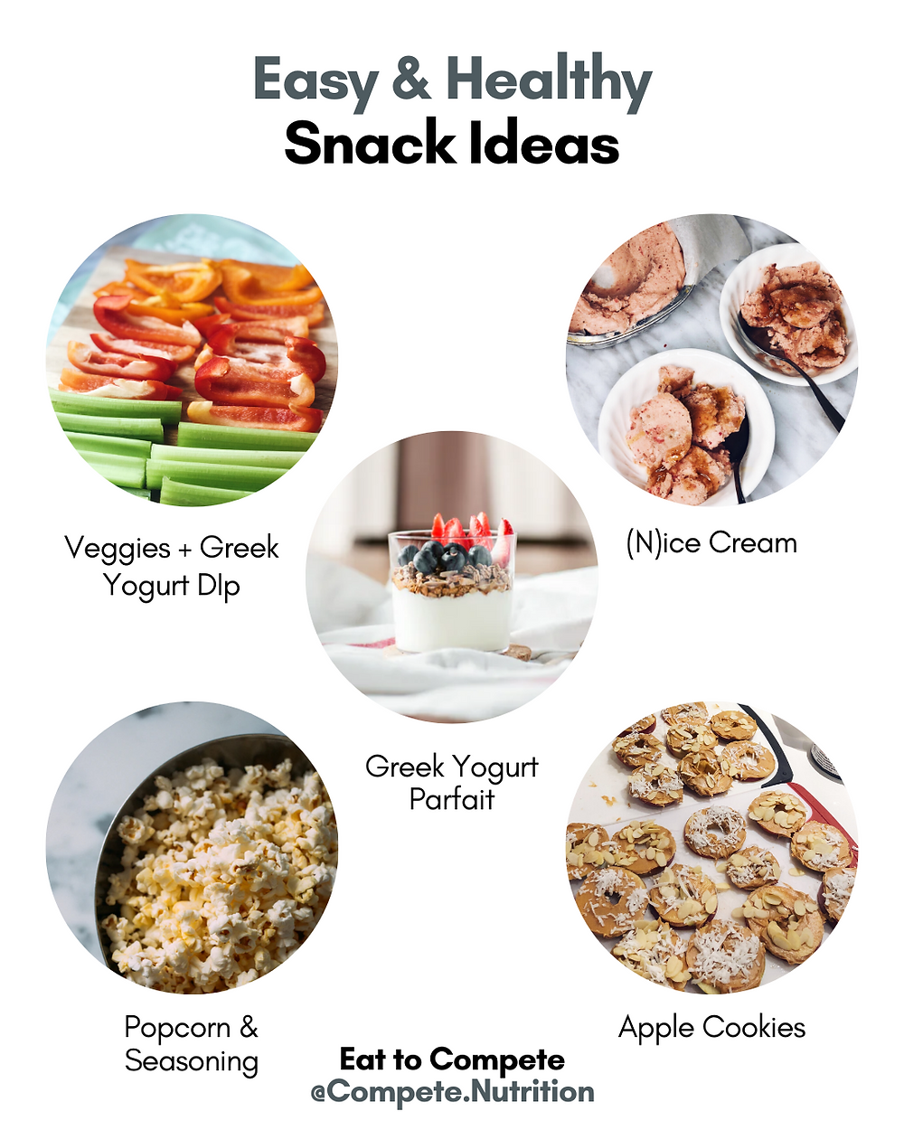 easy and healthy snacks - 5 minute snacks. High protein snacks.