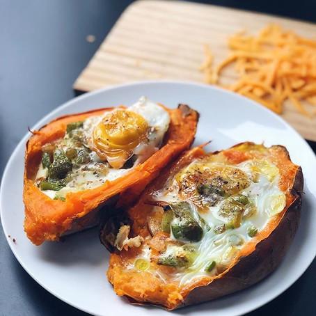 Stuffed Sweet Potato Breakfast