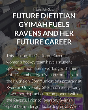 Featured: Future Dietitian Gyimah Fuels Ravens and her Future Career as a Dietitian Nutritionist