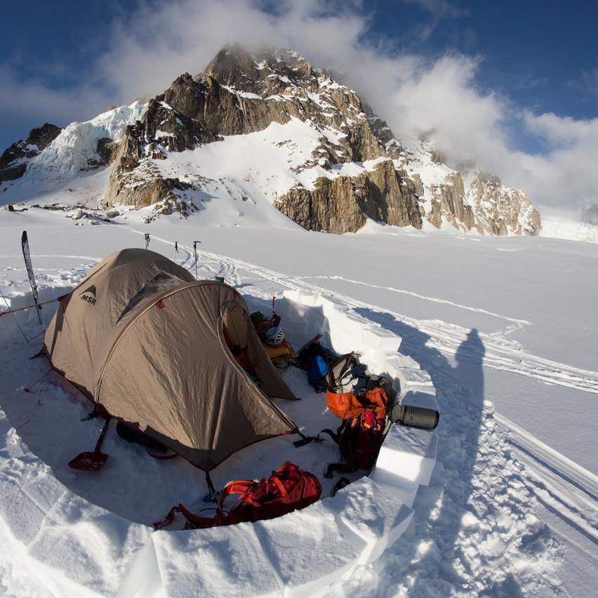 Camp Below the West Ridge of Hunter
