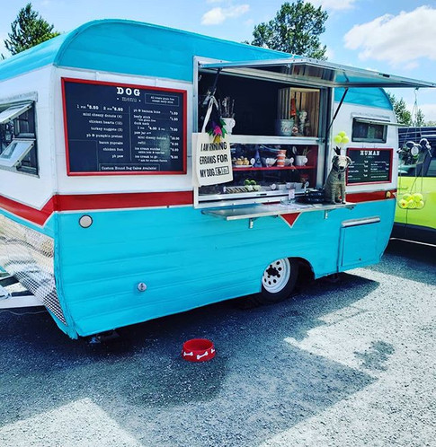Treat Trailer is open & ready for pups! Open Tuesday through Sunday 9-6pm, parked at the entrance of Magnuson Off Leash Dog Park!__#seattled