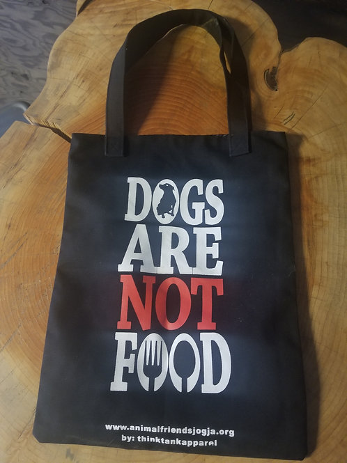 """Tote Bag - """"Dogs are not food"""""""