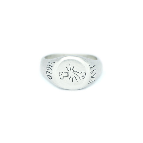 """Hold Fast"" Signet Ring"