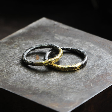 Half/Half Gold and Silver Wedding Bands