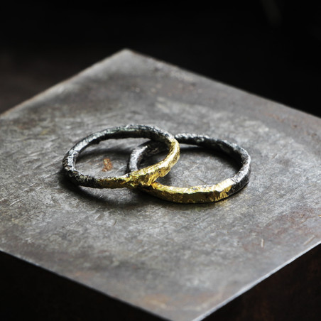 Half/Half Gold and Silver Wedding Bands