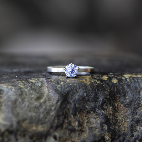 Stale & Co | Sand Blasted Finish Diamond Ring