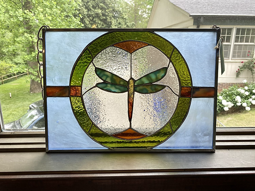 Dragon Fly, stained glass
