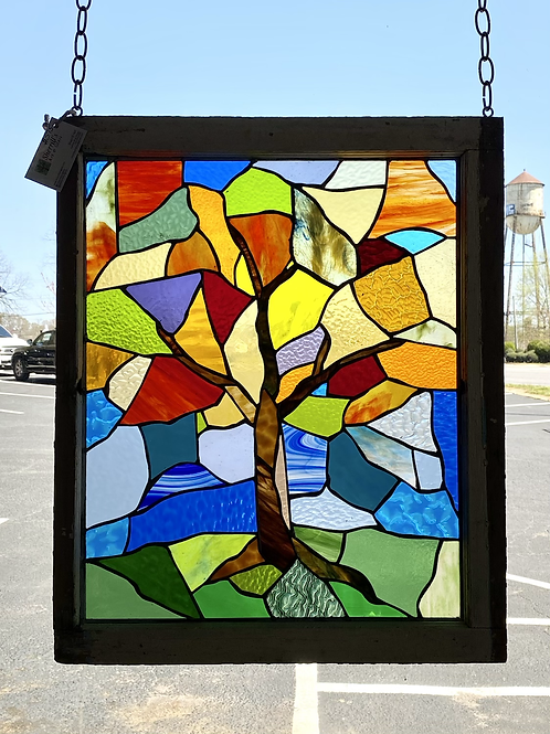 Abstract Tree, stained glass