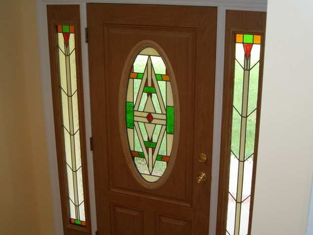 Front Door and side lights