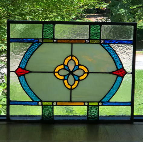 Commissioned stained glass.