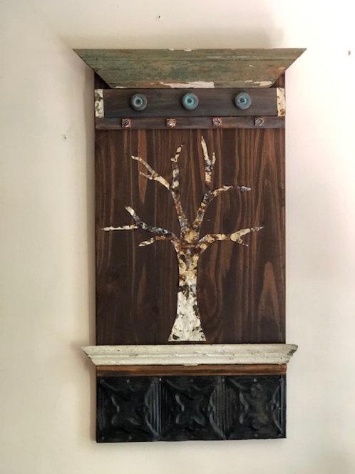 Wooden Sculpture, Tin Tree