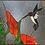 Thumbnail: Humming Bird, stained glass
