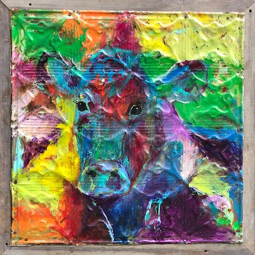 Cow Kaleidoscope, Tin Painting