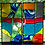 """Thumbnail: """"Menagerie"""" Stained Glass (Diptych)"""