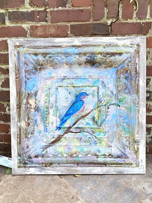 Bluebird Indoor/Outdoor Tin
