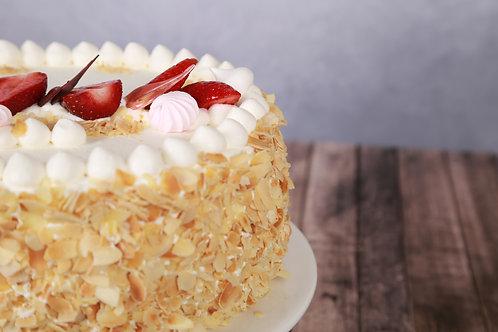 Joghurtos torta választott gyümölccsel (Tejszínes alap)