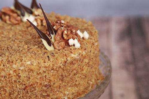 Házi dió torta (Cukormentes)