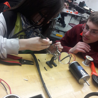 Soldering with Austin and Abby