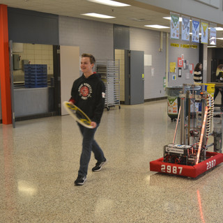 Strolling the Halls With Oll-E and Andrew