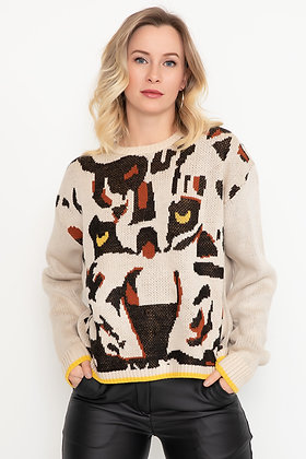 Patterned Knitwear Sweater