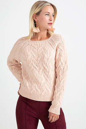 Wide Collar Knitwear Sweater