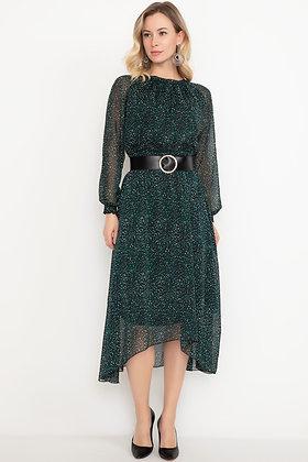 Chiffon Crinkle Lined Belt Dress