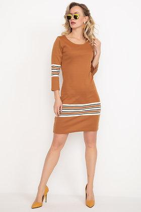 Capri Sleeved Striped Dress