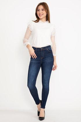 Laser Cut Skinny Jeans