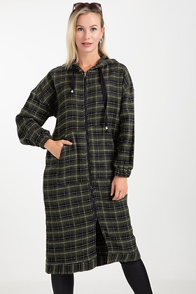 Plaid Stamped Trench
