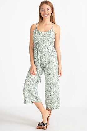 Rope Hanging Pocket Belted Jumpsuit I