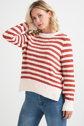 Striped Knitwear Sweater