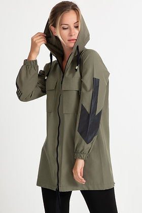 Two Color Hooded Trench