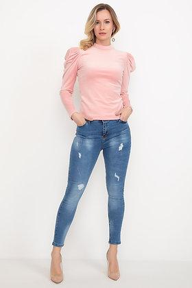 Laser Cut light blue Jean