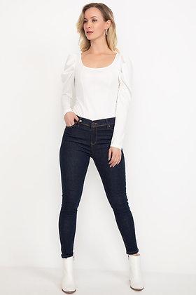 Narrow Hem Skinny Jeans